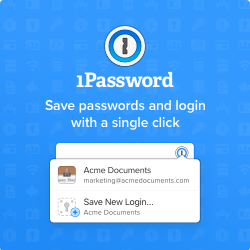 1Password - Save passwords and login with a single click