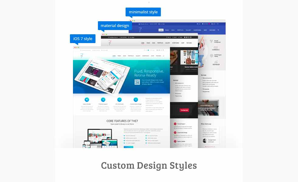 Custom design styles