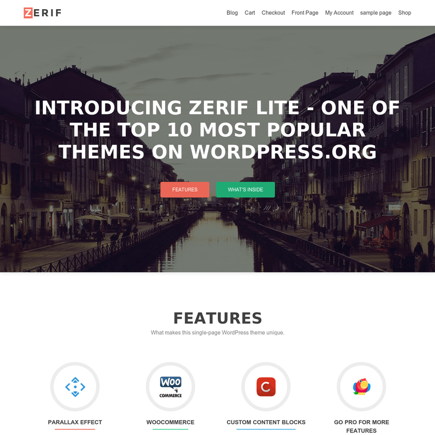 zerif-theme-review