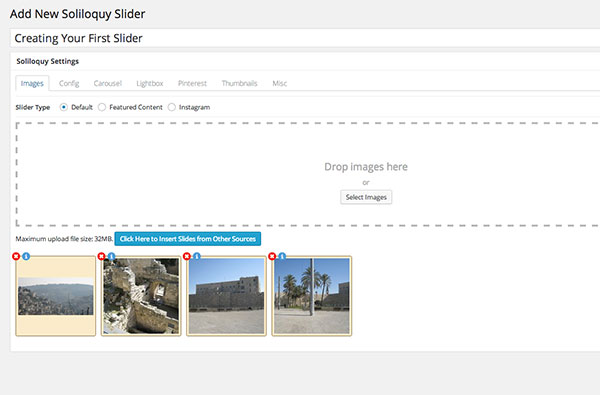 Creating a slider with Soliloquy