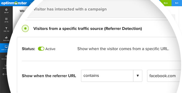 optinmonster referrer detection example