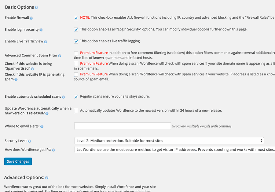 Setting up WordFence Security plugin for WordPress