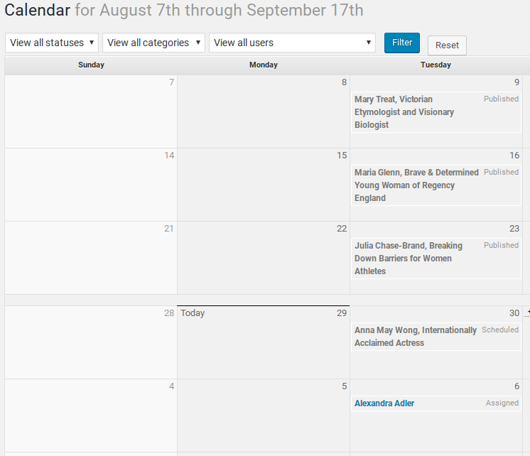 Edit Flow Review - Editorial Calendar