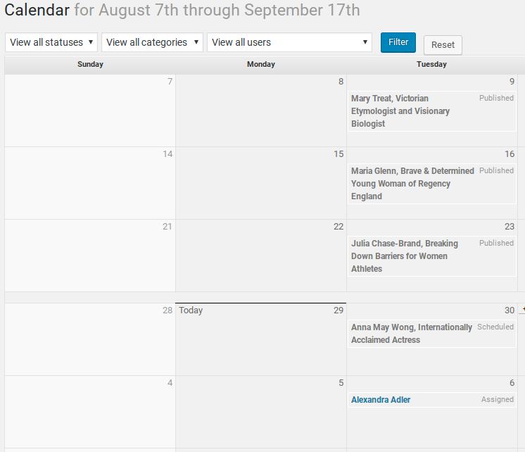 Edit Flow Review - Editorial Calendar