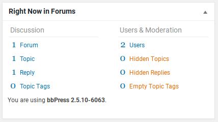 bbPress Review - dashboard widget