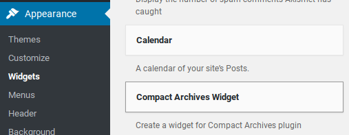 Compact Archives Review - new widget