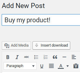Easy Digital Downloads Review - insert button