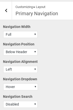 GeneratePress Review - navigation options