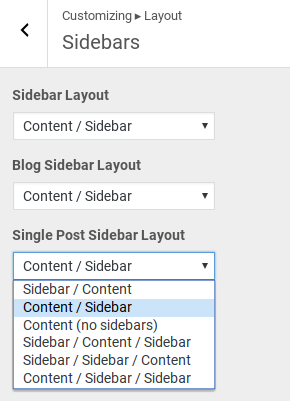 GeneratePress Review - sidebar options
