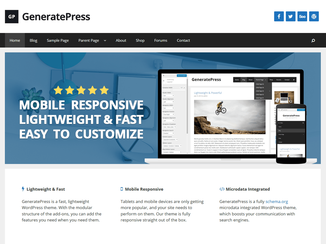 GeneratePress WordPress Theme Review