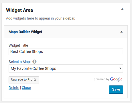 Google Maps Builder Review - widget