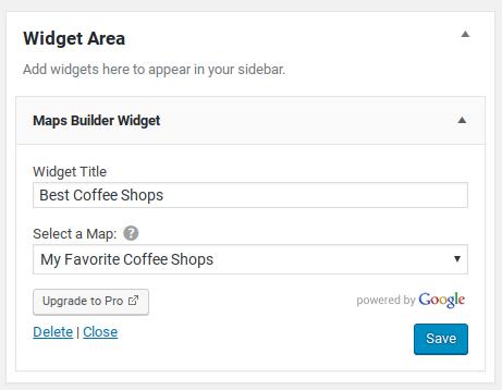Google Maps Builder Review - widget