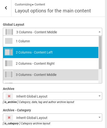 Hueman Review - layout options