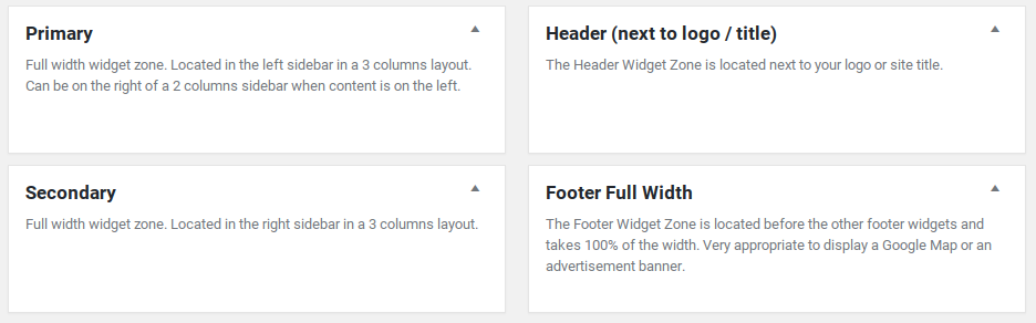 Hueman Review - widget areas