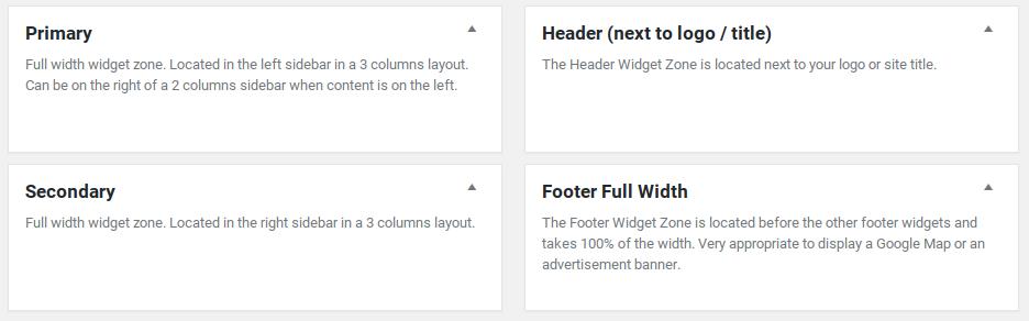 Hueman Review - widget areas