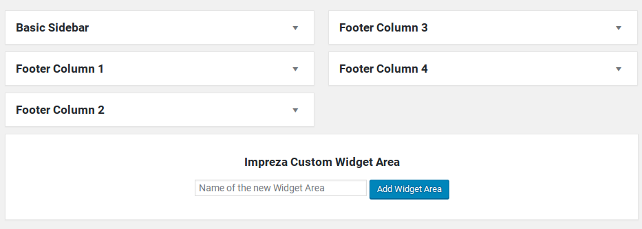 Impreza Review - widget areas