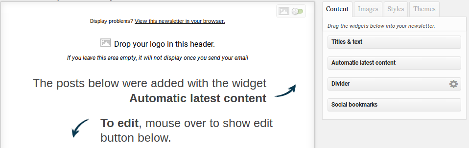 MailPoet Newsletters Review - drag and drop email editor