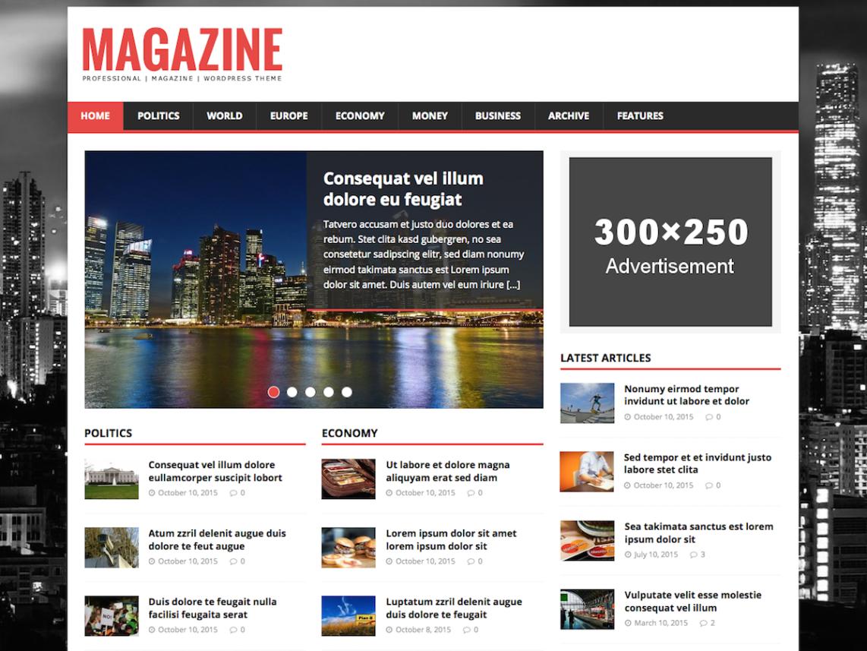 MH Magazine Lite WordPress theme review