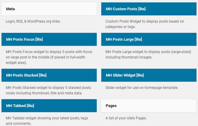 MH Magazine Lite review - custom widgets