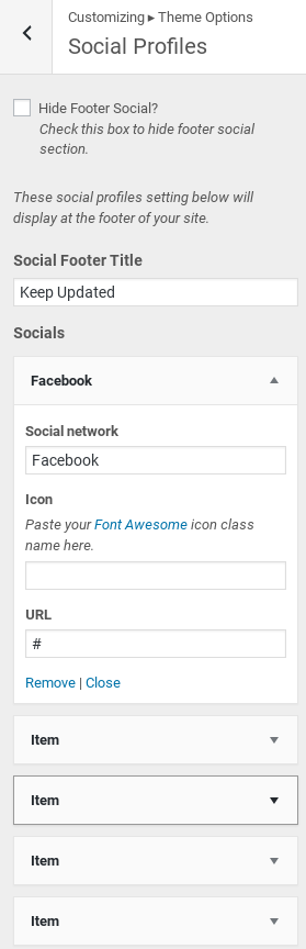 OnePress Review - social icons