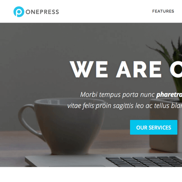 onepress-wordpress-theme-review-ft