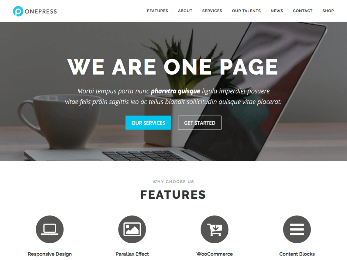 OnePress WordPress Theme Review