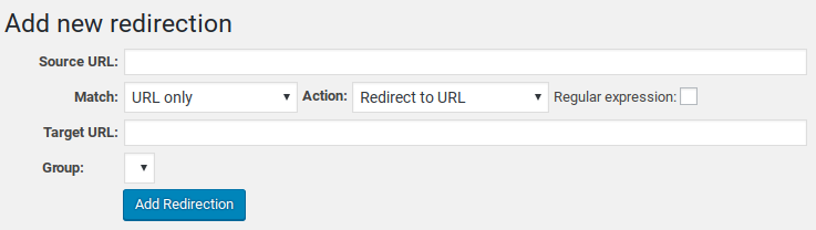 Redirection Review - add new URL