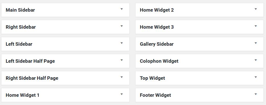 Responsive Review - 12 widget areas