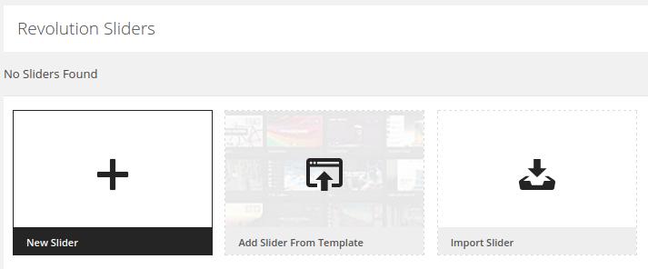 Slider Revolution Review - new slider