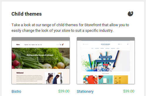 Storefront Review - child themes