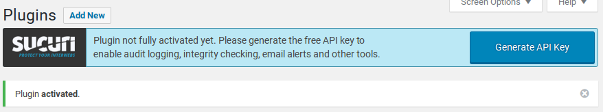 Sucuri Review - generate API