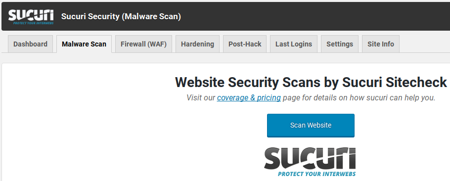 Sucuri Review - scan for malware