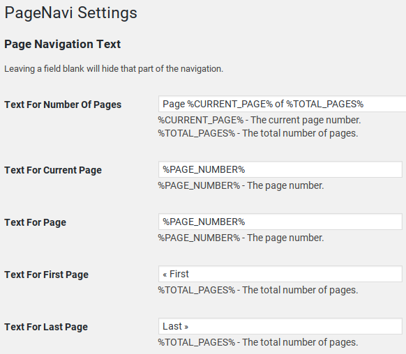 WP-PageNavi Review - settings