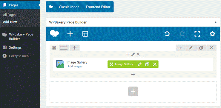 wpbakery page builder frontend editor