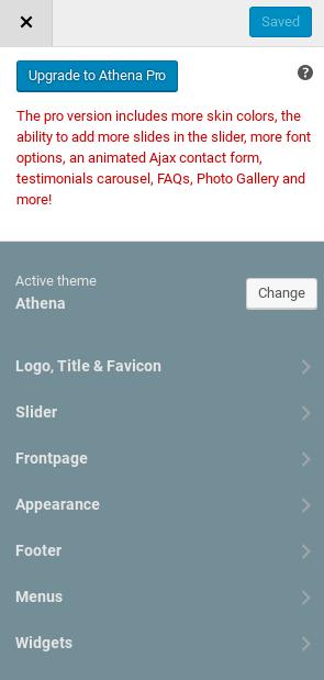 Athena Review - customize menu