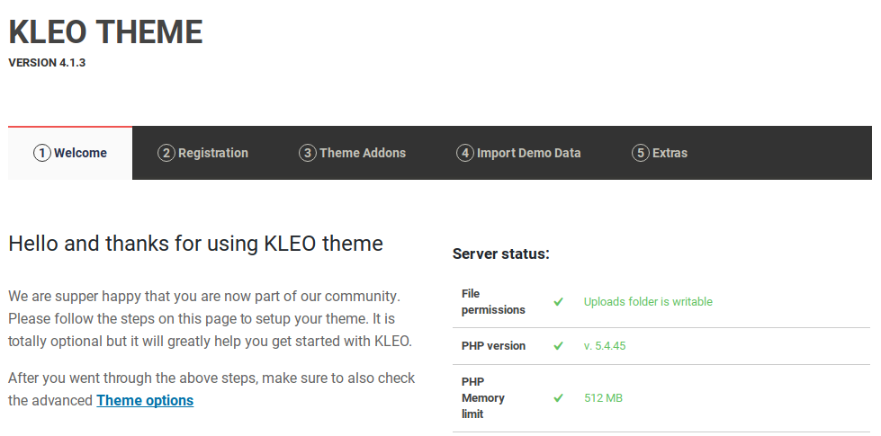 Kleo Review - install the theme