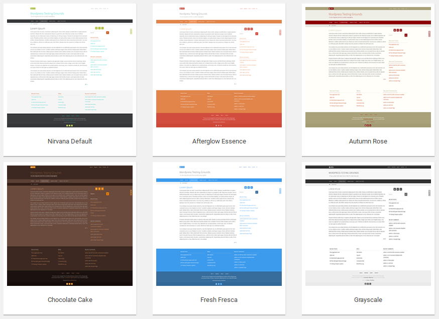 Nirvana color schemes examples