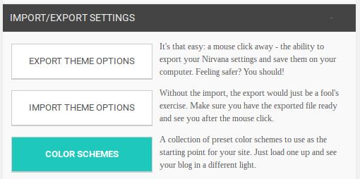 Nirvana color schemes