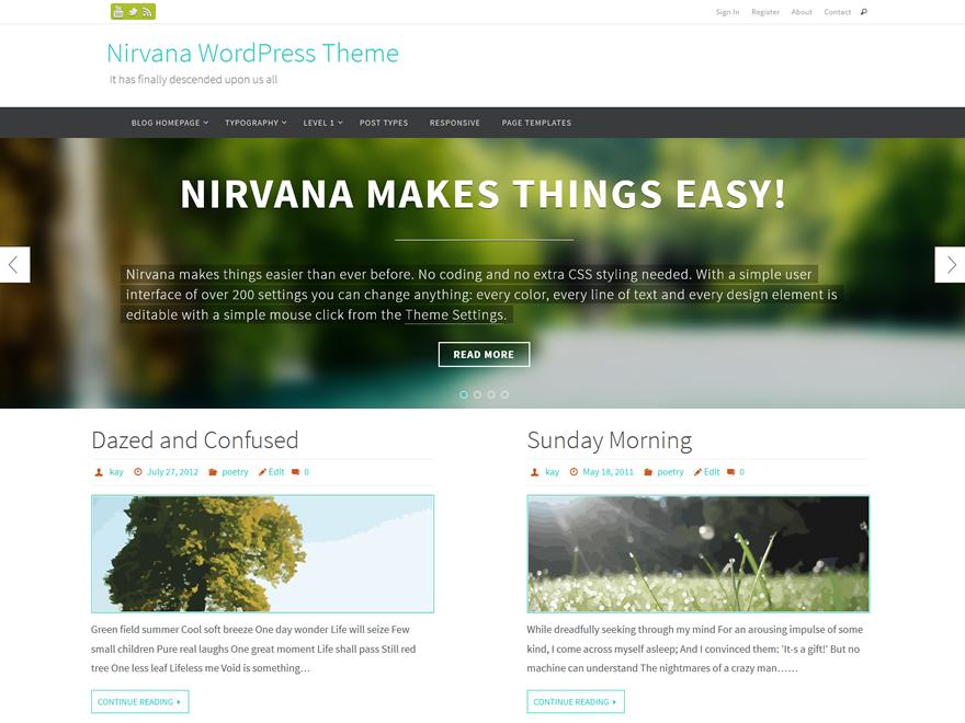 Nirvana Free WordPress Theme Review