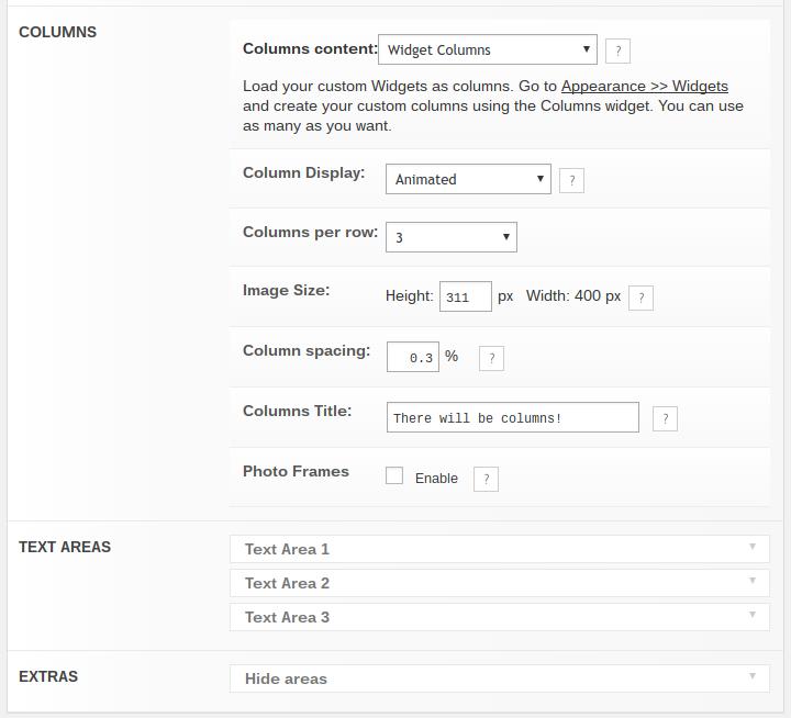 customizing the Nirvana homepage content