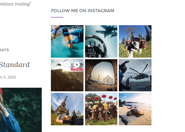 Activello theme instagram feed