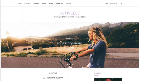 Activello theme has a featured slider for your posts by category