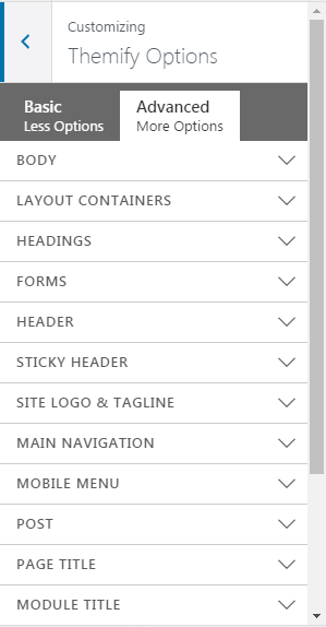 customize themify ultra