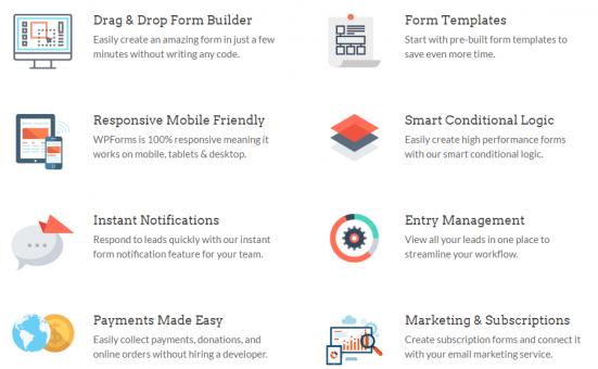 WPForms features - best wordpress form builder