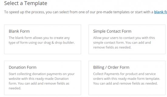WPForms prebuilt templates