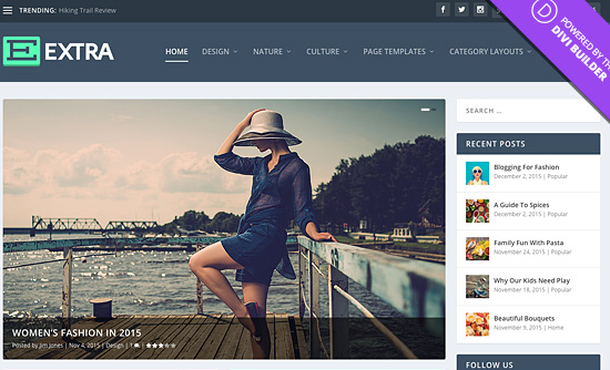 Blogs Using Elegant Themes Extra