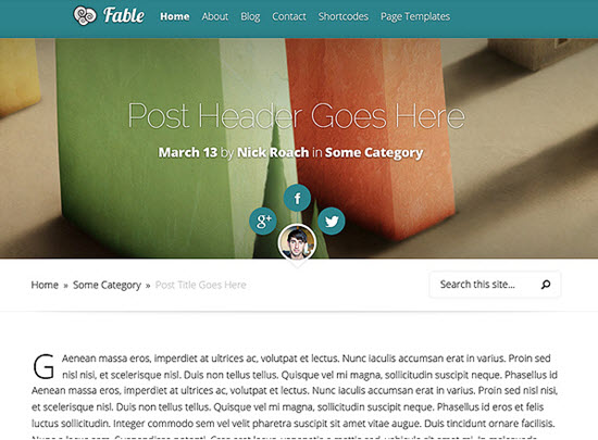Elegant Themes fable theme review