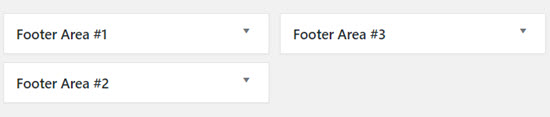 footer area widgets