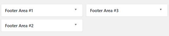footer area widgets