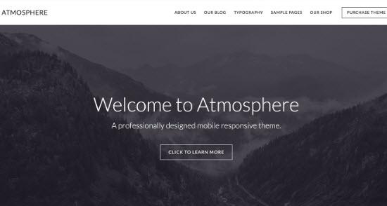 studiopress atmosphere pro review screenshot